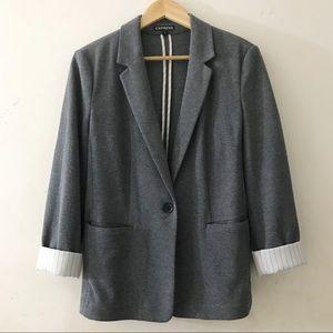 Express Grey Rolled Sleeves Blazer